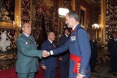 Audiencia militar del Rey Felipe VI a un grupo de coroneles y capitanes de navío. 15-09-2016