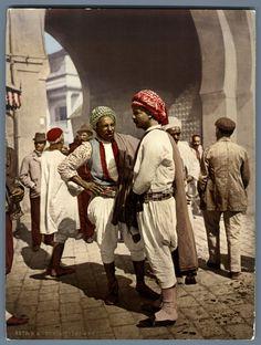 Tunis, types d'Arabes.    #Afrique_Africa #Tunisie