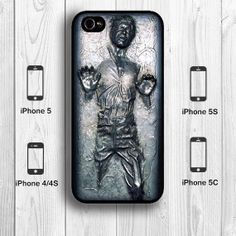 Han Solo Carbonite iPhone 5S Case, Star Wars iPhone 5C Case Black White Back Cover --000001 on Etsy, $9.99