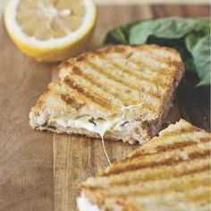 Lemon-Basil Grilled Cheese Panini Recipe - ZipList I think I will try the cheese, lemon, and basil with sliced potatoes for a variation of Au Gratin