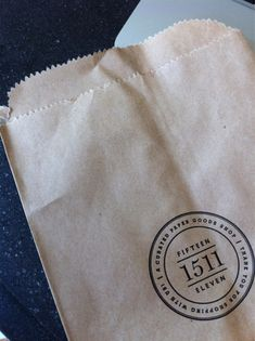 Letterpressed bags for the Paper Goods shop Fifteen Eleven of Alexandria, Virginia