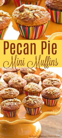 The flavor of pecan comes to life in these cute as a button Pecan Pie Mini Muffins. You'll bring pecan pie to breakfast with these bite-size delights. Mini Muffins, Pecan Pie Muffins, Donut Muffins, Mini Donuts, Cupcakes, Cupcake Cakes, Breakfast Pastries, Breakfast Muffins, Breakfast Potatoes