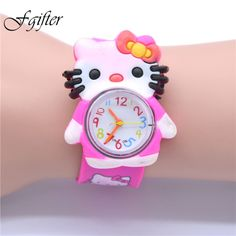 Able Children Girls Wristwatches Quartz Cartoon Genuine Leather Disney Brand Frozen Watches Waterproof Number Citizen Movement Watches
