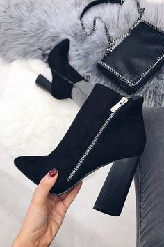 Women's fall winter fashion ankle boots outfits. Trends spring autumn casual c… Women's fall winter fashion ankle boots outfits. Trends spring autumn casual c… – Outfits for Work – Winter Mode Outfits, Winter Fashion Outfits, Autumn Winter Fashion, Fashion Shoes, Autumn Casual, Fall Winter, Outfit Winter, Fall Fashion, Fashion Edgy