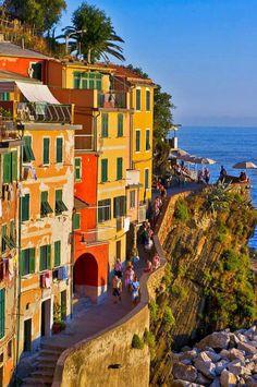 Riomaggiore, Liguria, Italy.