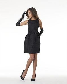 Floral Jacquard Bow Dress      Love it...it's so Jackie O
