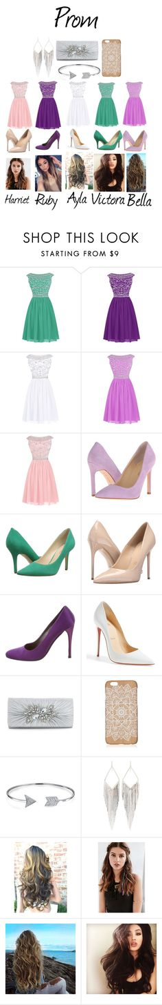 """""""Prom Brom"""" by bellarina2016 ❤ liked on Polyvore featuring Ivanka Trump, Nine West, Massimo Matteo, Prada, Christian Louboutin, Bling Jewelry, Jules Smith and REGALROSE"""