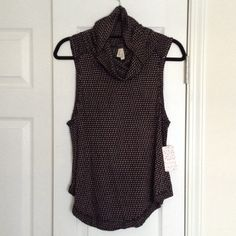 Free People Knit Turtleneck Sweater Vest 🔻NOW, get 15% off everything when you bundle 3 or more items!!🔻This is adorable!!  Would be perfect with a long black sleeve tee underneath and I don't own one...have had for over a year and just haven't been able to wear. Free People Jackets & Coats Vests
