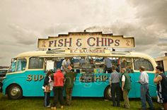 """Wasn't as fancy but we did go to the """"chippie wagon"""" for fish and chips!"""