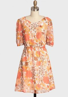 Vintage Fair Floral Dress By Tulle