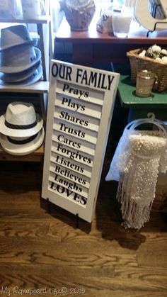 How to make a family rules sign using an upcycled shutter and some vinly…
