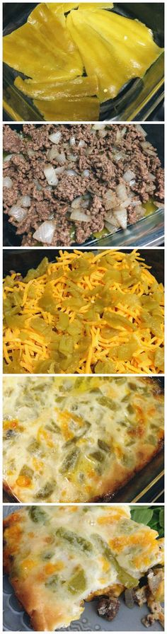 Chile Rellenos Casserole... top this with the tomato sauce that normally the chiles go in. Easy meal!