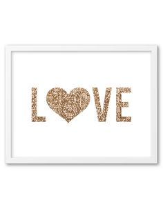 Gold Sequin Heart Wall Art
