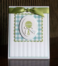 Stampin' Up! Baby Card, Button Buddies