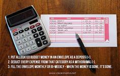 Idée de création d'enveloppes de budget. Avec détails des opérations.