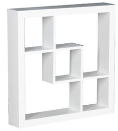 Arianna Display Shelf, White - contemporary - wall shelves - by Shop Chimney
