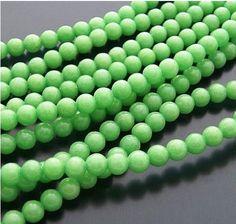 Barato 1 Strand verde doces Jade pedra redonda contas Loose 4 mm 4B122, Compro Qualidade Adornos diretamente de fornecedores da China:        14 milímetros de vidro Big Hole Contas Loose / Beads europeus Fit DIY Europeu Charms Jóias Braclet     US $ 8,90
