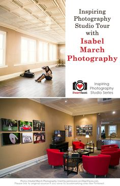 Inspiring Photography Studio Tour with Isabel March Photography via iHeartFaces.com