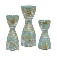The Three Hands Ceramic Candle Holder - Set of 3 are certainly a whimsical way to display lit candles with their charming hourglass shape. These three. Ceramic Candle Holders, Candle Holder Set, Candlestick Holders, Candlesticks, Candleholders, Decorative Objects, Decorative Accessories, Home Decor Outlet, Glass Vase