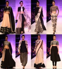 Black and white Indian outfits