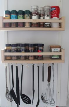IKEA's versatile Bekvam spice rack can be used for many different purposes! Check out these 25 ways to use IKEA Bekvam spice racks around your home. Kitchen Utensil Organization, Kitchen Utensil Holder, Kitchen Utensils, Kitchen Storage, Organization Ideas, Cooking Utensils, Diy Storage, Ikea Kitchen Rack, Storage Ideas