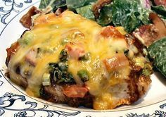 Low carb Chicken Enchilada Style-No tortillas. Also lots of low carb recipes on this site that looks delish!