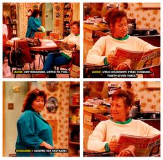 Roseanne. I forgot about this show...I bet it's funnier now that I'm an adult!