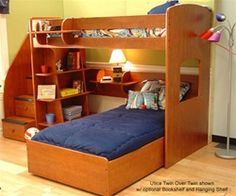 Berg furniture utica loft bed kids bedroom furniture berg bunkbeds