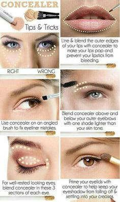 Want a Dose On Step By Step Makeup? Here's A Complete Makeup List In Order Of Its Application Beauty Make-up, Beauty Makeup Tips, Beauty Products, Beauty Hacks, Makeup 101, Makeup Guide, Natural Beauty, How To Apply Concealer, How To Apply Makeup