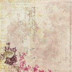 Florals, writing, lavender color, postmark-wonderful paper