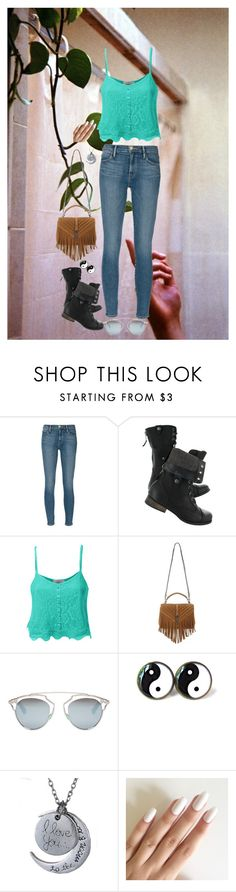 """I think I'll try defying gravity"" by theater-potter-dance-warriors ❤ liked on Polyvore featuring Frame Denim, LE3NO, Yves Saint Laurent and Christian Dior"
