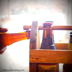I DIE!!! Bottle Holder  Six Pack Carton  Reusable Wood by coldcreekbrewing,