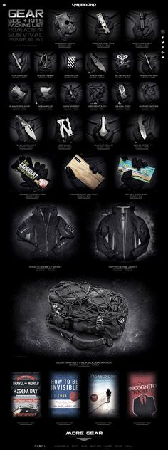 VINJABOND LIFESTYLE GEAR KIT /// NOMADISM // SURVIVALISM // TACTICAL // EDC