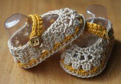 Spring Newborn Crochet Baby Ballerina from: http://crochetbrio.blogspot.co.uk/