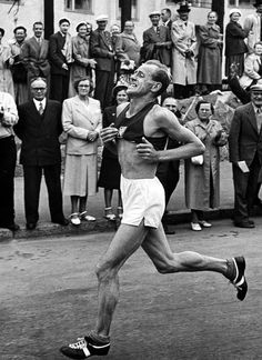 Emil Zatopek: Greatest long distance runner of all time.
