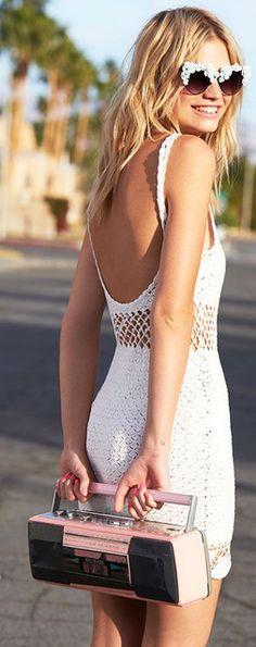 Lisa Maree Crochet Mini Dress