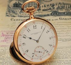 Old Timepieces | Antique Patek Philippe pocket watch from 1909, listed on eBay