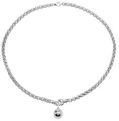 Tianguis Jackson Silver T-bar Necklace with Ball Charm