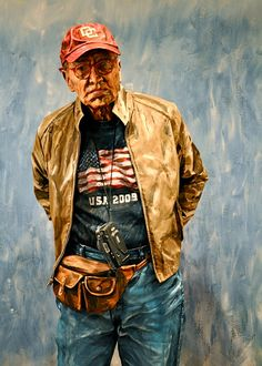 this is a real man, painted over by Alexa Meade to look like a painting..incredible