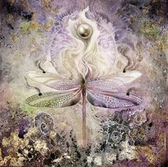 Stephanie Law - watercolor painter, botanical illustrator and artist of fantastical dreamworld imagery. Dragonfly into Calla Lilly with a pearl! Dragonfly Art, Beautiful Bugs, Insect Art, Patterns In Nature, Painting & Drawing, Bunt, Watercolor Paintings, Fantasy Art, Art Drawings