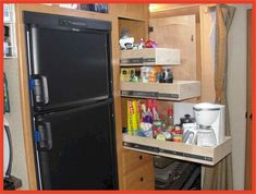51 Easy and Cheap RV Camper Organization Travel Trailers Ideas - RusticRoom Cabover Camper, Rv Cabinets, Camper Bathroom, Camper Kitchen, Cheap Rv, Rv Travel Trailers, Camper Storage, Diy Rv, Rv Interior