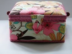 Floral #Sewing #Basket available from Lenarow Limited's ebay store or Instore at Wools and Crafts 169 Blackstock Rd London N4 2JS @finsbury_pk tel 02073591274 #storage