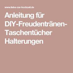 Anleitung für DIY-Freudentränen-Taschentücher Halterungen