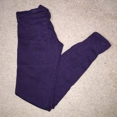 Dark purple skinny jeans Dark purple skinny jeans. These are size 5, but would fit more of a 2-4. Hardly worn. Brand Flying Monkey. (Shown as AE for views) American Eagle Outfitters Jeans Skinny
