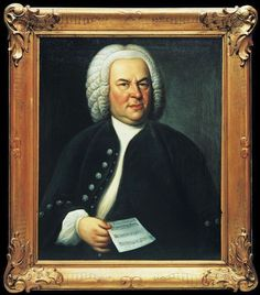 The portrait of Johann Sebastian Bach by Leipzig painter Elias Gottlob Haussmann.