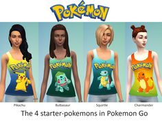 The absolute must have for your pokemon fan sim. Shirt with motives at the pokemon go starter pokemons!  Found in TSR Category 'Sims 4 Female Everyday'