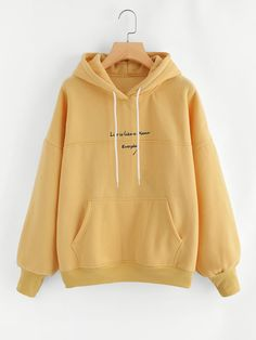 Shein Slogan Embroidery Hoodie - Shein Slogan Embroidery Hoodie Source by - Teenager Outfits, Outfits For Teens, Stylish Outfits, Cool Outfits, Fashion Outfits, Trendy Hoodies, Comfy Hoodies, Hoodie Sweatshirts, Girls Hoodies