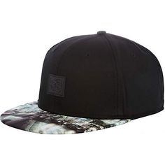 Black urban print flat peak cap - hats - accessories - men