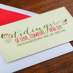 Glad Tidings Holiday Card by Checkerboard Ltd.
