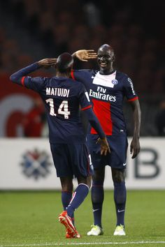 Paris Saint Germain v. Stade Brestois 29 - Celebration of Matuidi's goal with Sakho - © Panoramic